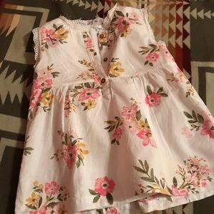 Carters girls sleeveless blouse